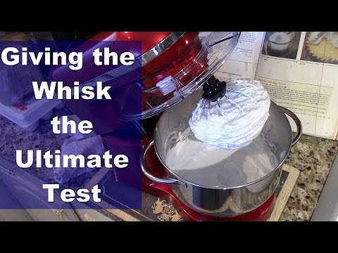 Testing The Whisk On The Acuma Stand Mixer:  The World's Best Lemon Meringue Pie