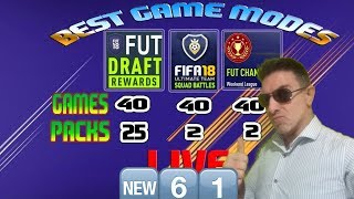 LIVE Fifa 18 DRAFT Glitch PACK Fun Rage Giveaway 1 DAY #61 uncut