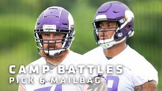Biggest Vikings Position Battles Heading Into Training Camp | Pick 6 Mailbag