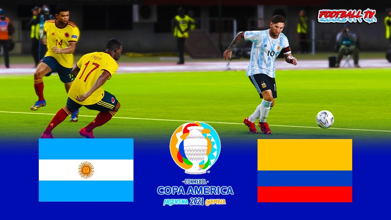 PES 2021 - Argentina vs Colombia - Full Match HD - Copa America 2021 -  eFootball Gameplay PC - YouTube
