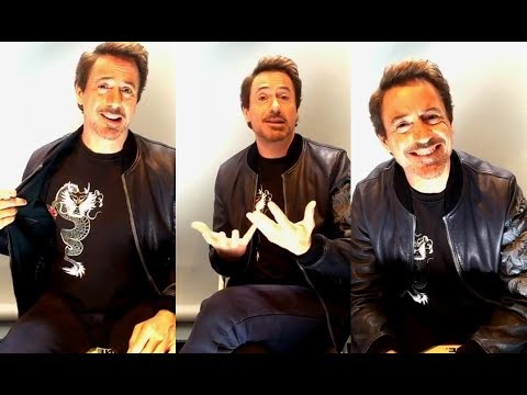 Robert Downey Jr. on Facebook Live | 6 June 2017