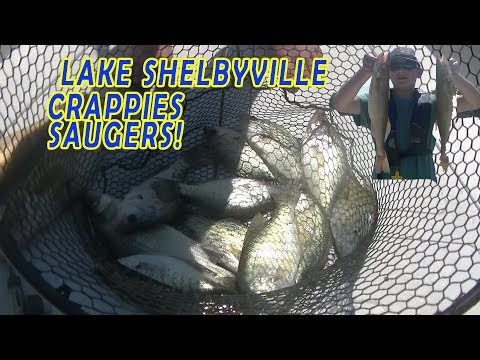 Lake Shelbyville SAUGERS and CRAPPIES !!!