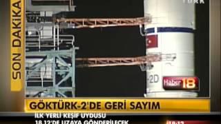 İlk Türk Yapımı Keşif Uydusu Göktürk 2 Fırlatma Videosu