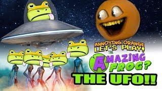 Amazing Frog: THE UFO!!! [Annoying Orange]