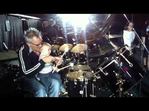 Peter (Air Drummers Son) and Graham Broad. The Wall Tour 2011