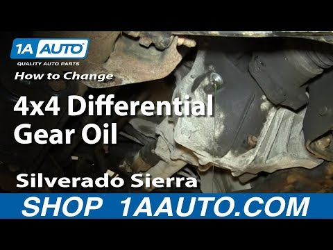 how to change differential oil