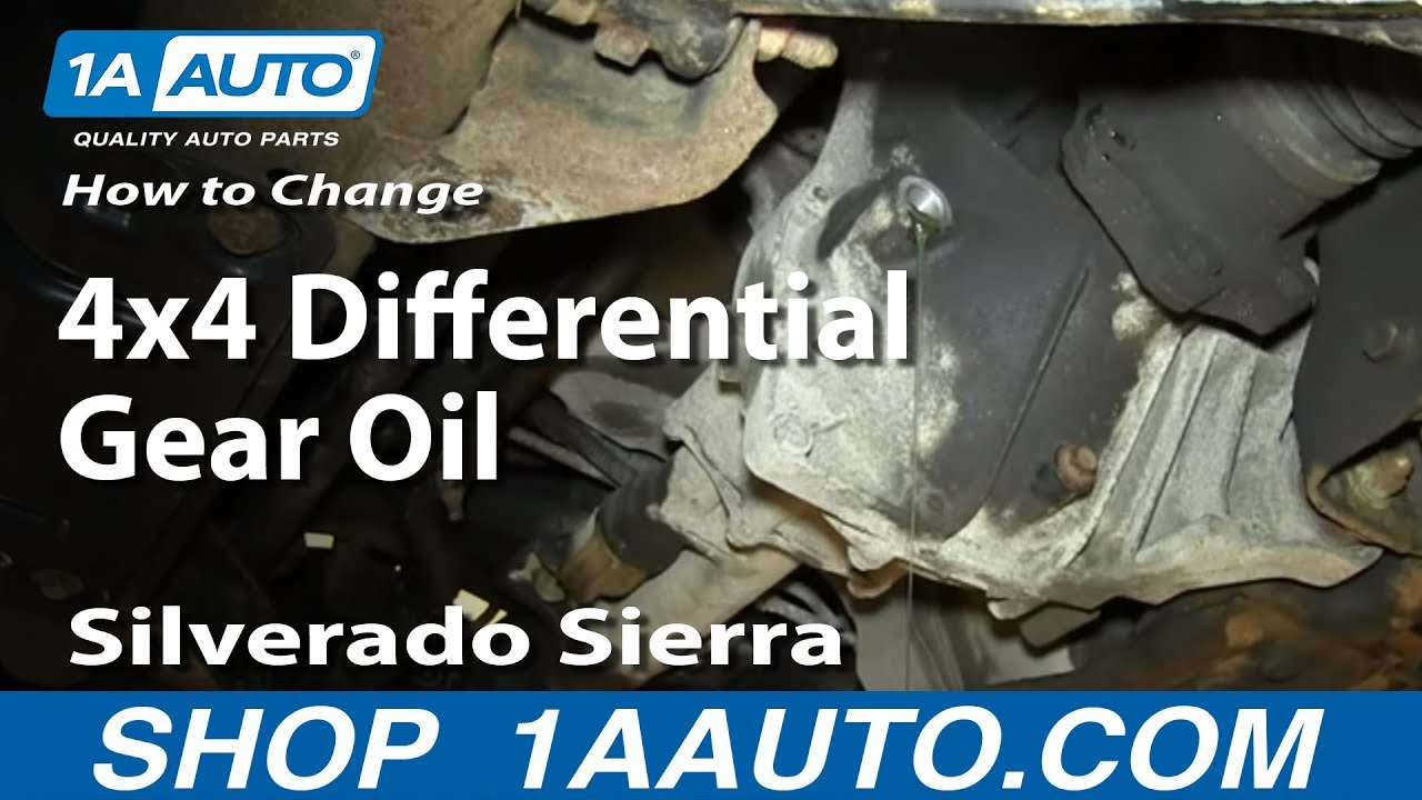 How To Change Service Front 4x4 Differential Gear Oil 2000