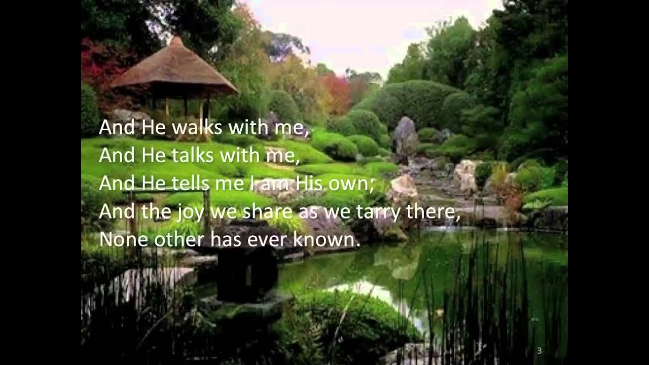 I Come To The Garden Alone The Jordanaires Lyric Video Youtube