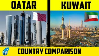 Qatar VS Kuwait Country Comparison in Hindi | GDP, Currency, Population, Literacy etc.