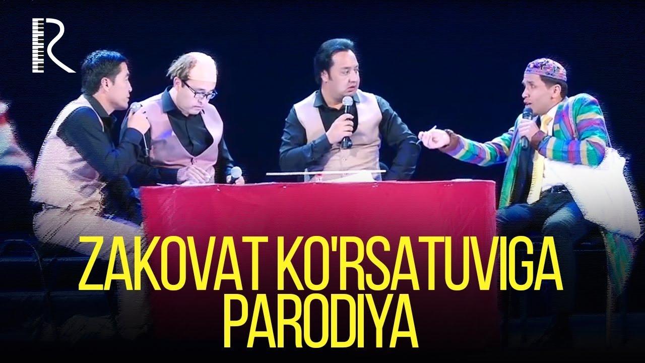 Avaz Oxun - Zakovat ko'rsatuviga parodiya 2018 (Nodir Xayitov, Gulom, Abror, Zohid)