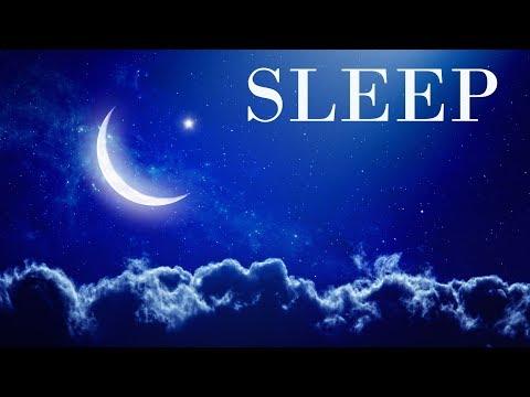 Sleep Music Night Waterfall - Blue Screen Scene and Sleeping Sound