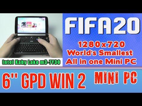 GPD WIN 2 FIFA 20 On Handheld Mini PC - 256 GB SSD 8GB RAM Intel Core M3-7Y30 HD 615