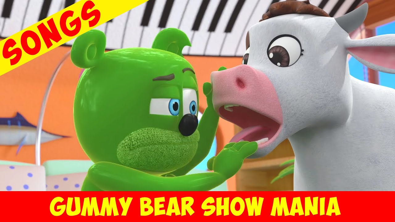 """Gummibär """"COW IN THE HOUSE"""" 🐮 Wholly Cow (Extended Song) - Gummy Bear Show MANIA"""