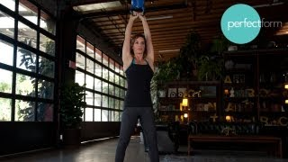 Kettlebell and Burpee Combo Workout | Perfect Form With Ashley Borden