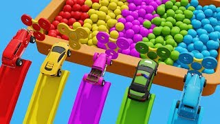 Learn Colors Numbers and More with Super Car Toys Color Slides and Widget Spinners