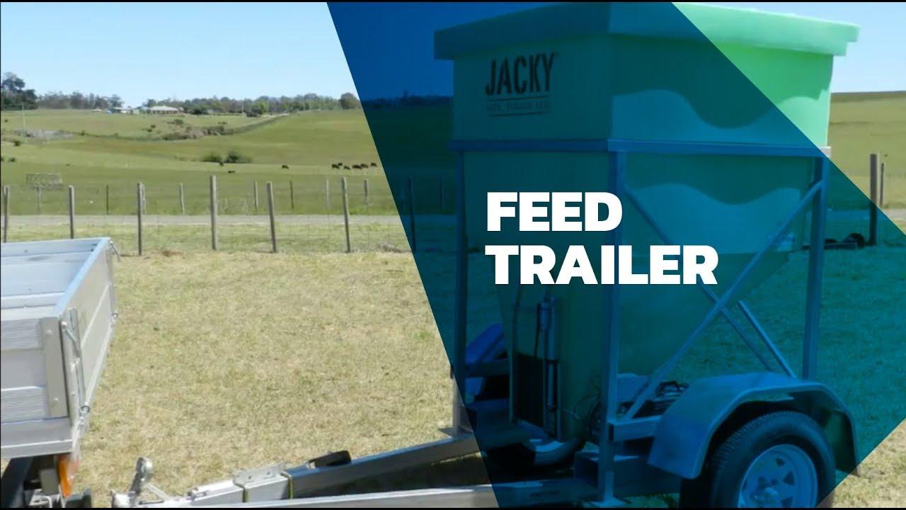 Portable Feed Storage Bins : Jacky feed trailer youtube