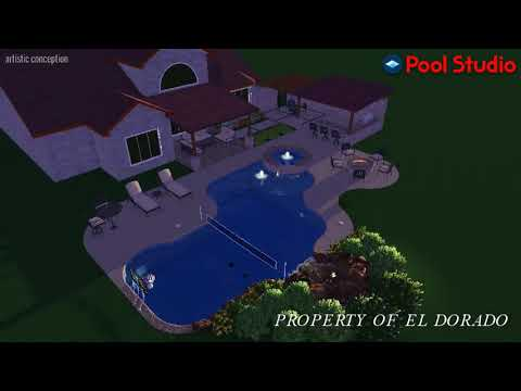 El Dorado 3D Swimming Pool Design - #10 Freeform