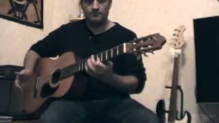 Cours ( tuto ) guitare pour Né quelque part - Maxime le Forestier ( tab part 1 )