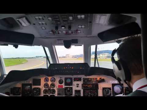 Jetstream 31 cockpit landing in Tallinn