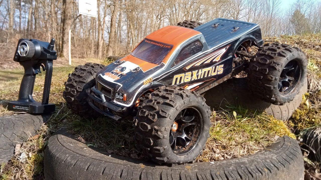 dhk maximus 80 kmh brushless rc monster truck von test testfahrt youtube. Black Bedroom Furniture Sets. Home Design Ideas