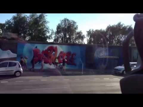 Berlin Wall 2013 eastside gallery modern street art HISTORY OF TWO MEN KISSING