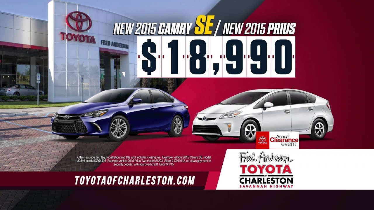 fred anderson toyota charleston annual clearance event youtube. Black Bedroom Furniture Sets. Home Design Ideas