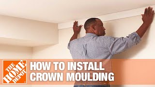 How To Install Crown Moulding Part 2: Installing & Finishing - The Home Depot