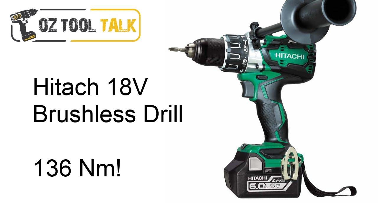 Hitachi Brushless Hammer Drill 136nm Dv18dbl2 Review Youtube