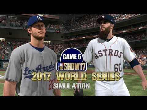 MLB The Show 17 | 2017 World Series Game 5 Dodgers Vs Astros Simulation