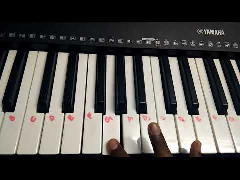Chords for Bless the Lord Oh My Soul song in keyboard
