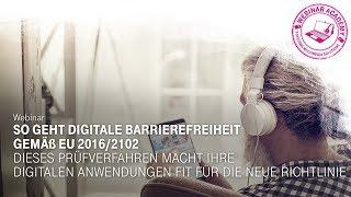 So geht digitale Barrierefreiheit gemäß EU 2016/2102 - Webinar