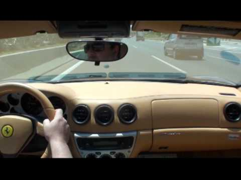 In car Ferrari 360 F1 Modena in Athens Greece (smooth and easy)