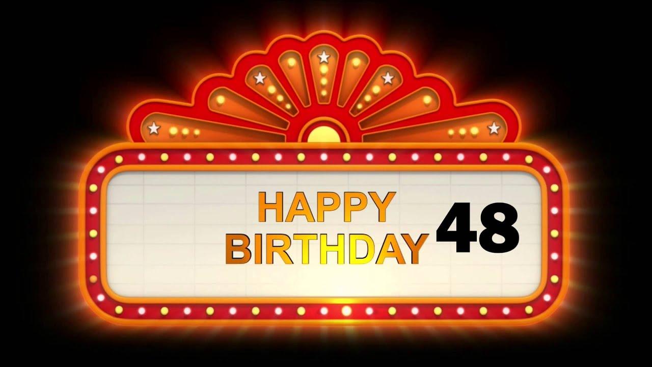 Gelukkige Verjaardag 48 Youtube