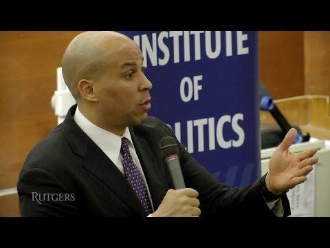 Cory Booker at Eagleton Institute of Politics (Rutgers University)