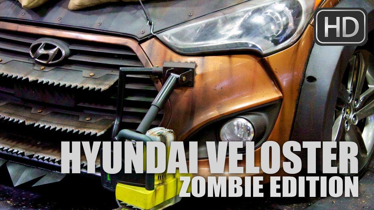 Crazy Hyundai Veloster Anti Zombie Machine Youtube
