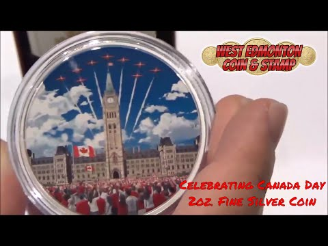 Celebrating Canada Day 2oz. Fine Silver Coin (2017) W/Glow In The Dark Tech (161450)