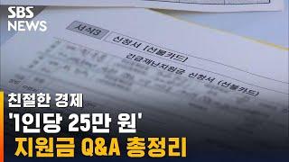 '1인당 25만 원' 지원금 Q&A 총정리 / …