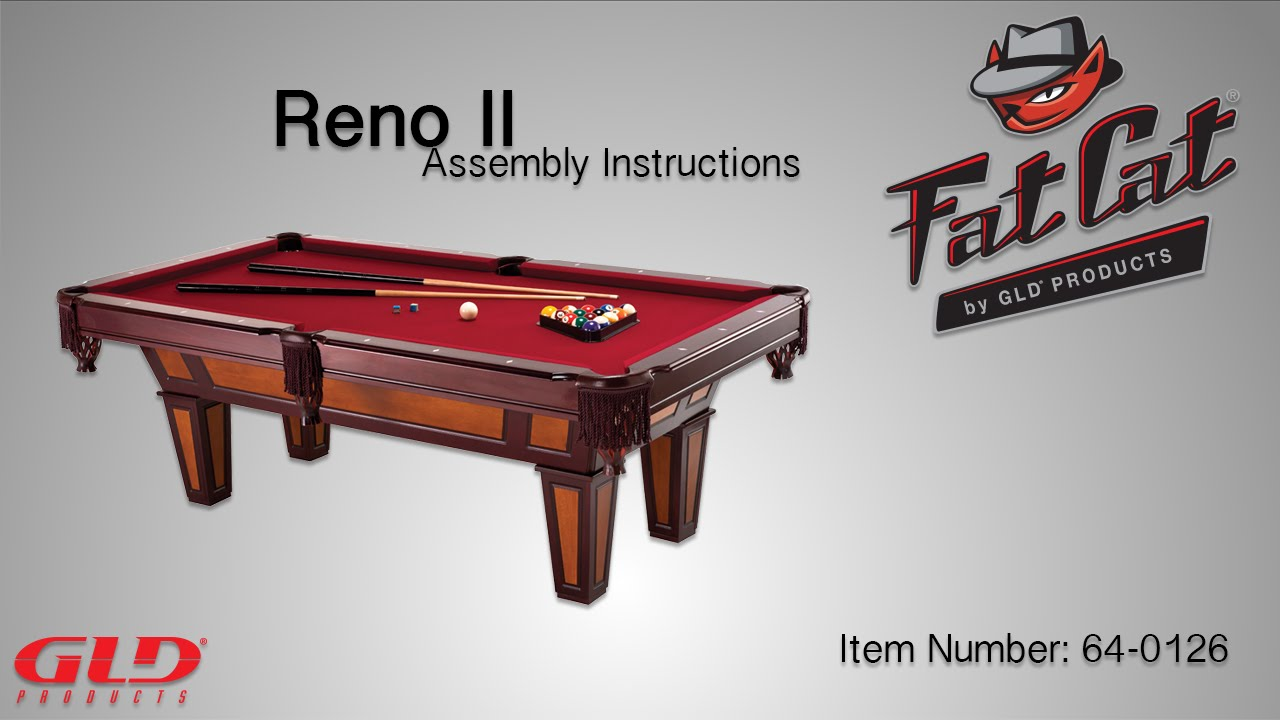 How To Fat Cat Reno II Assembly Instructions YouTube - Accuslate pool table