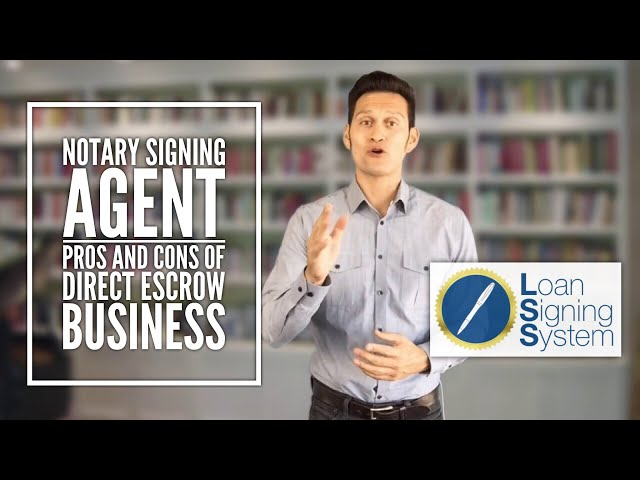 Notary Loan Signing Agent Training: Pros and Cons of Signing