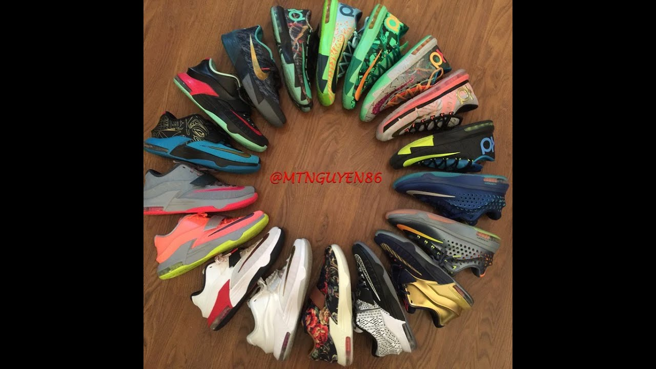 kd kevin durant shoe collection youtube