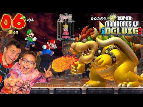 ON DOIT BATTRE BOWSER ET SAUVER PEACH - Super Mario Bros U Deluxe Épisode 6 - Nintendo Switch co-op