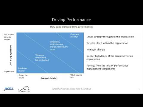 Jedox Webinar: Planning for Performance - From an EPM Expert