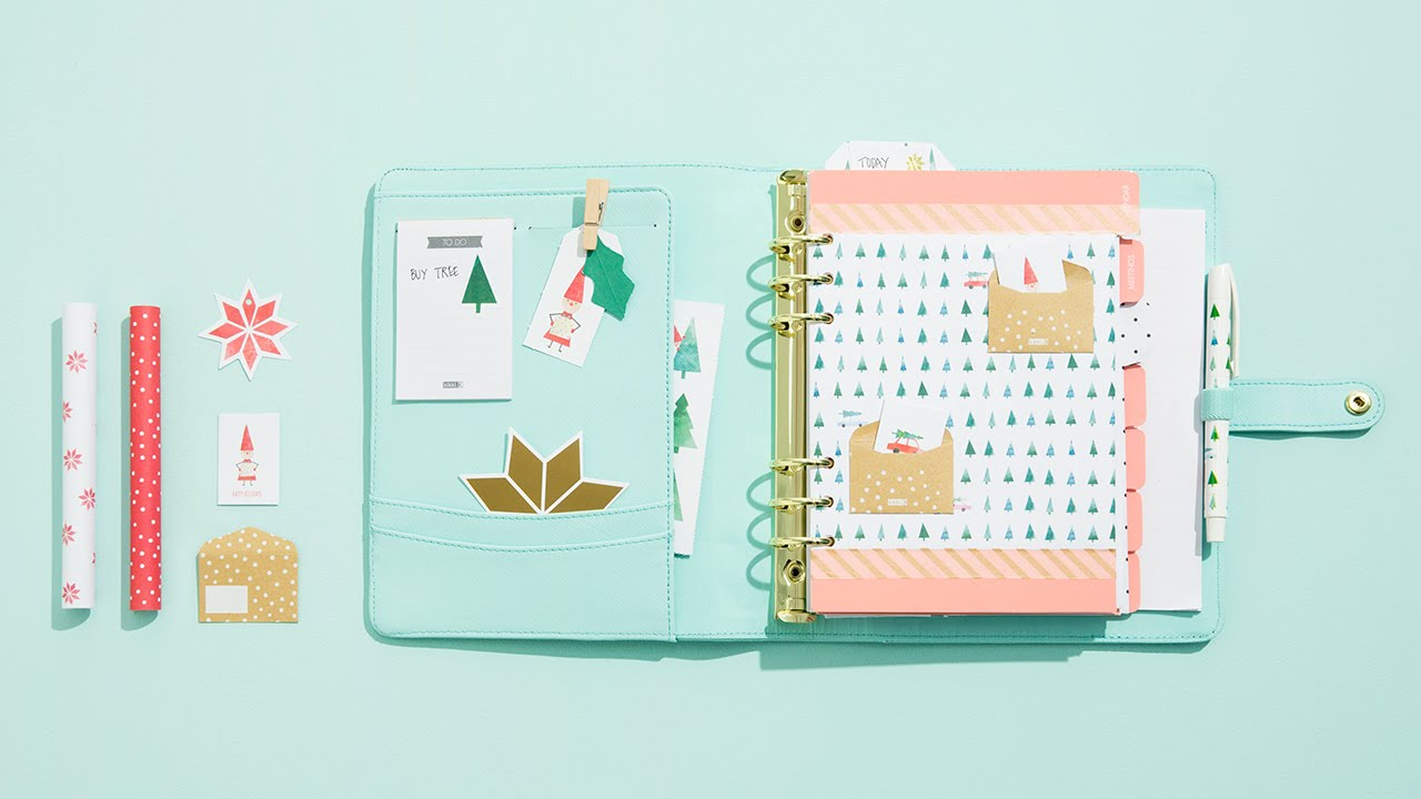 Style your kikki k planner get ready for christmas youtube for For planner