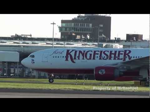 PLANE SPOTTING HEATHROW Kingfisher Airlines A330
