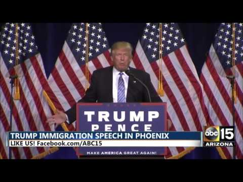 Donald Trump says Illegal Immigrants will be out within the 1st hour he's President - AGAIN
