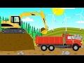 Vehículos De Construcción Para Niños | Excavadora, Camión, Niveladora | Equipo Para Los Niños