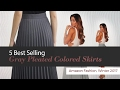 5 Best Selling Gray Pleated Colored Skirts Amazon Fashion, Winter 2017
