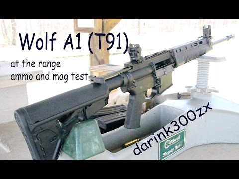 Wolf A1 T91 at the Range
