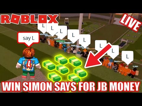 WIN SIMON SAYS for FREE Jailbreak Money! | 🔴 Roblox Jailbrea