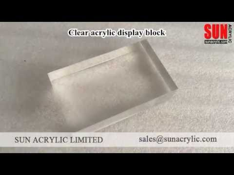 clear acrylic display blocks for jewelry, perfumes and cosmetics | Sun Acrylic Ltd.